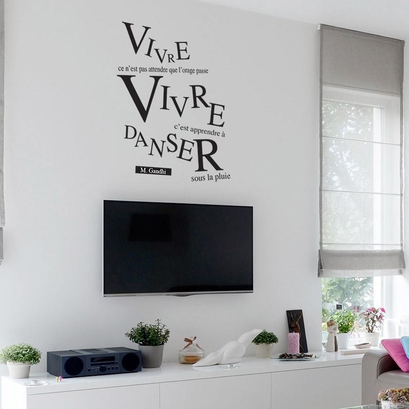 sticker mural original de citation de gandhi composition graphique. Black Bedroom Furniture Sets. Home Design Ideas