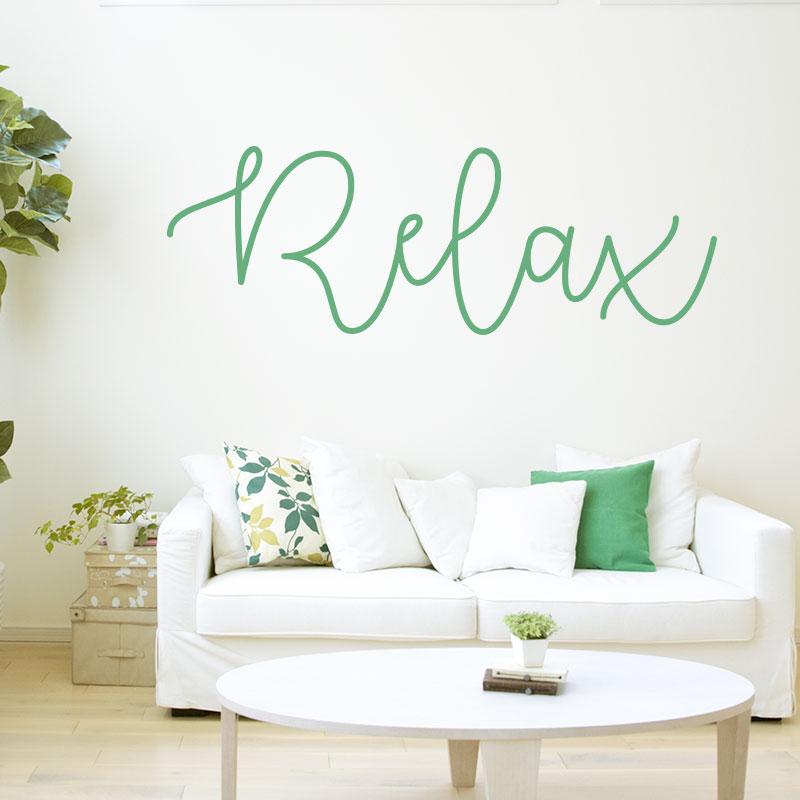 Sticker texte relax pour d co de murs toutes pieces for Stickers murs deco