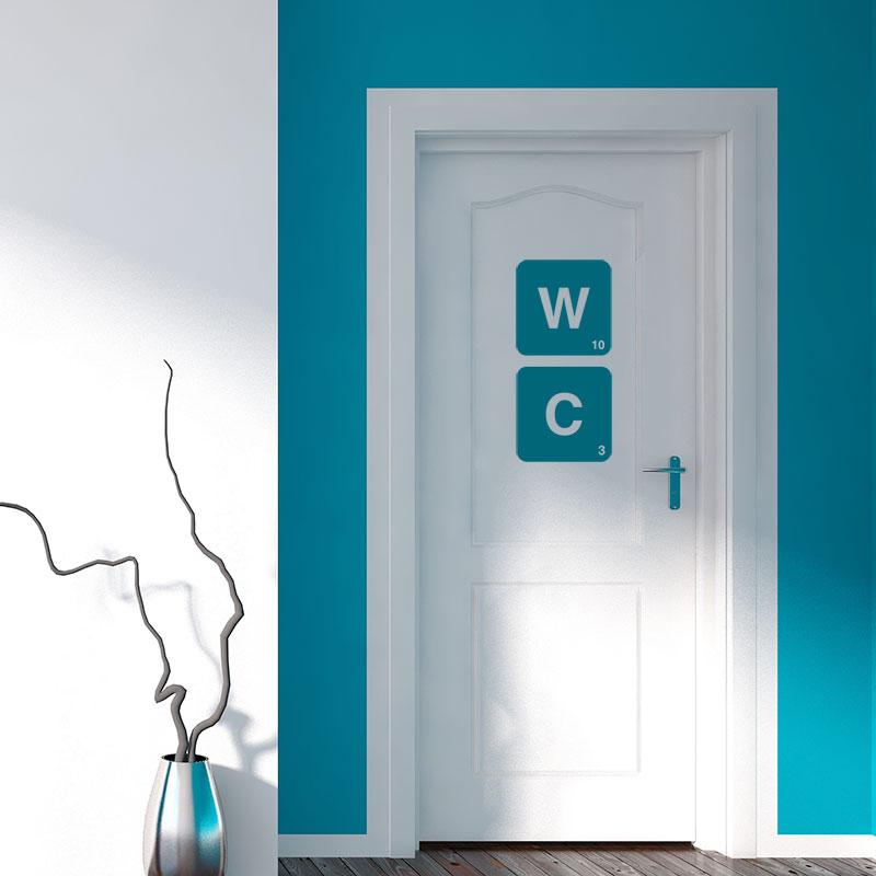 Stickers lettres WC pour toilettes